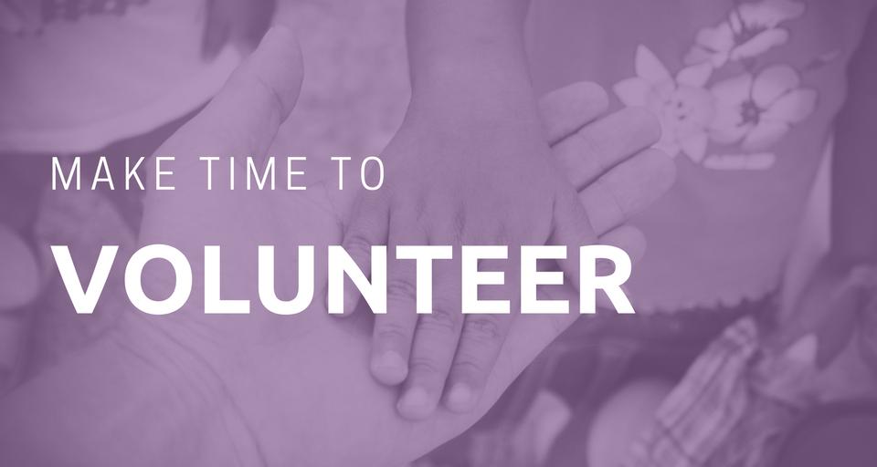 Make Time to Volunteer